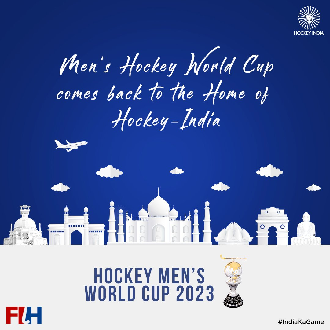THIS JUST IN: After #HWC2018's resounding success, India win the hosting rights for the 2023 Hockey Men's World Cup, in 🇮🇳's 75th Independence year!Read more: http://bit.ly/2NPOfes#IndiaKaGame