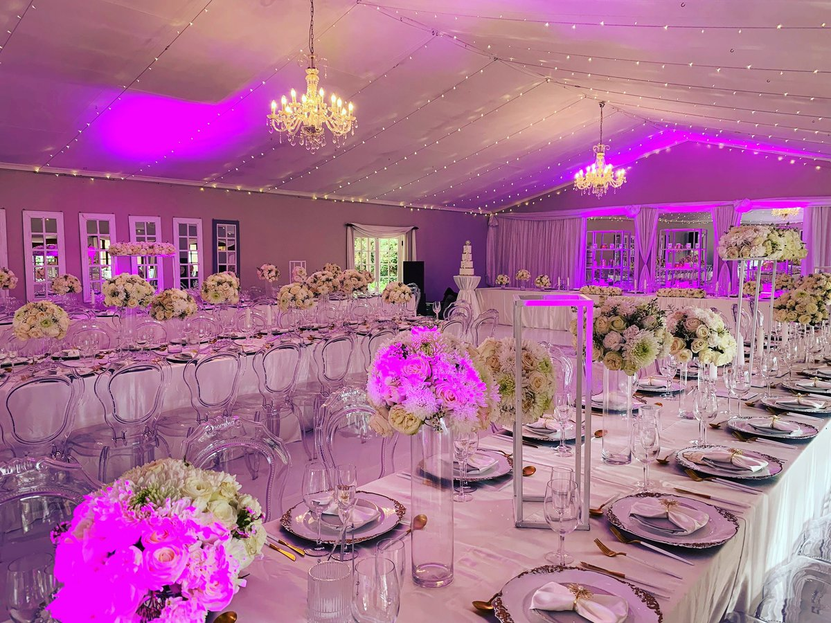 So we called on our friend @mabutlainno of Innovative Eventz and together we will provide wedding decor to the value of R180 000 and a wedding cake to the value of R15 000 #KFCProposal #KFCWedding #MetroFM