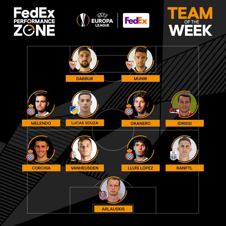 This week's FedEx Performance Zone Team of the Week.   Name your top 3  #UEL players    http://uefa.com/uefaeuropaleague/performancezone