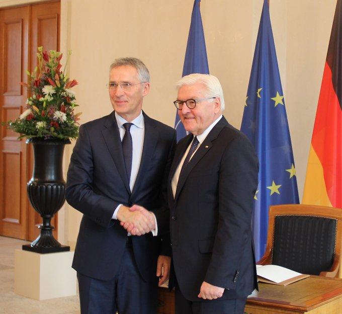 BPr Steinmeier empfängt NATO-Generalsekretär JensStolte