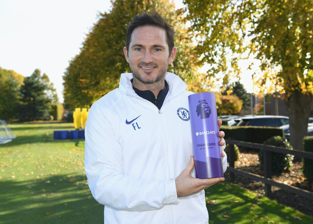 The Barclays @PremierLeague Manager of the Month for October! Congratulations, Frank! 🥇👏