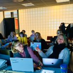 Image for the Tweet beginning: EduDigi-opiskelijat pääsivät tänään syventymään ohjelmoinnin