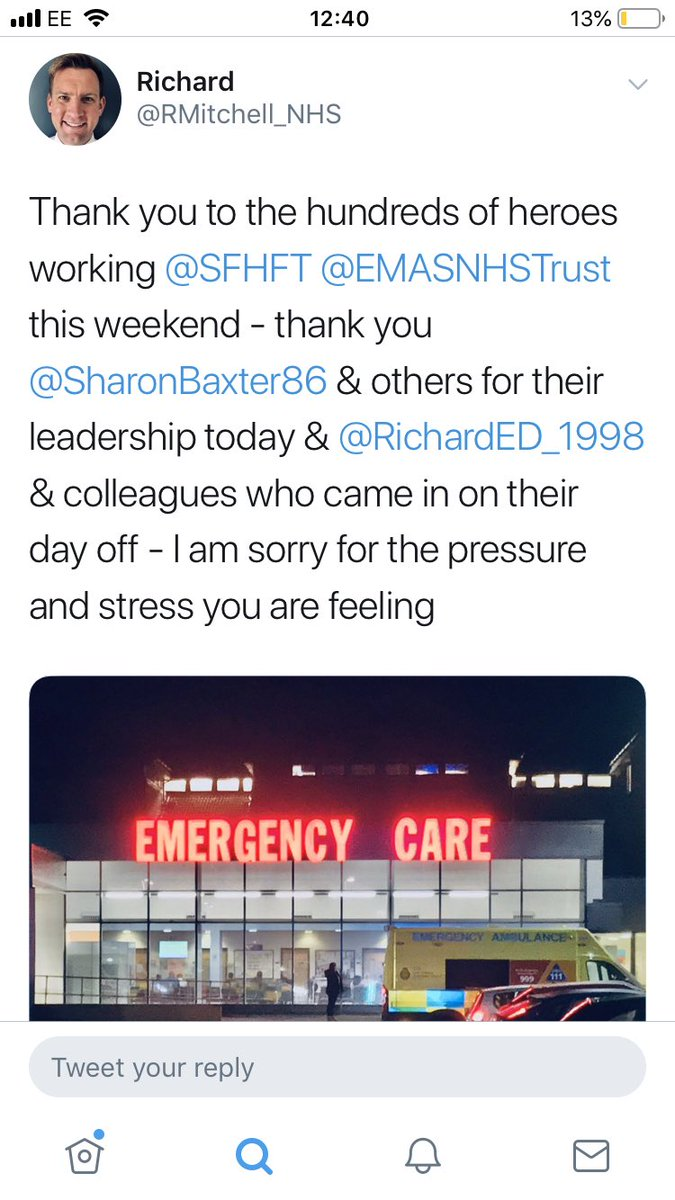 .@ToryFibs . What the chief exec of the Ashfield hospital that Boris Johnson visited today tweeted earlier this week