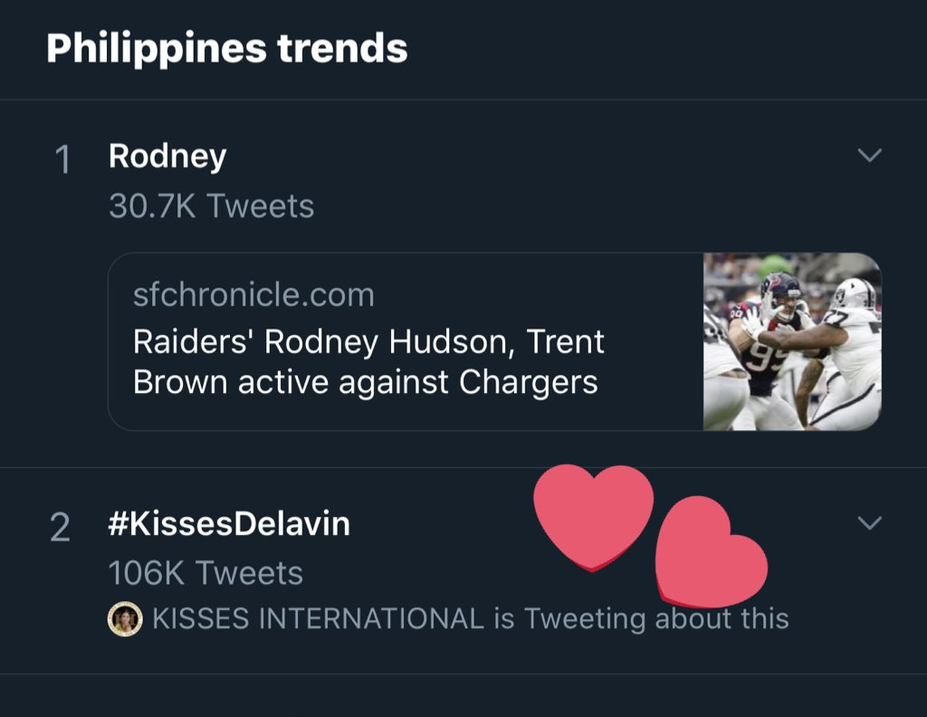 Just a recap of today's TP!   #KissesDelavin - still at 2nd spot  KISSES SaMEGAndaViceCo - 7th  Kisses - 14th  Kissables - 19th    And we also trended in SG and USA!   Congratulations Kissables! Much love. <br>http://pic.twitter.com/wgNy25Xkr1