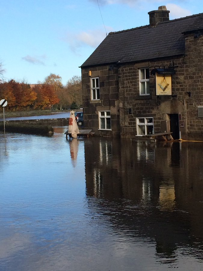 Water up to the waist of pub landlord bbc.in/2WXAxdv