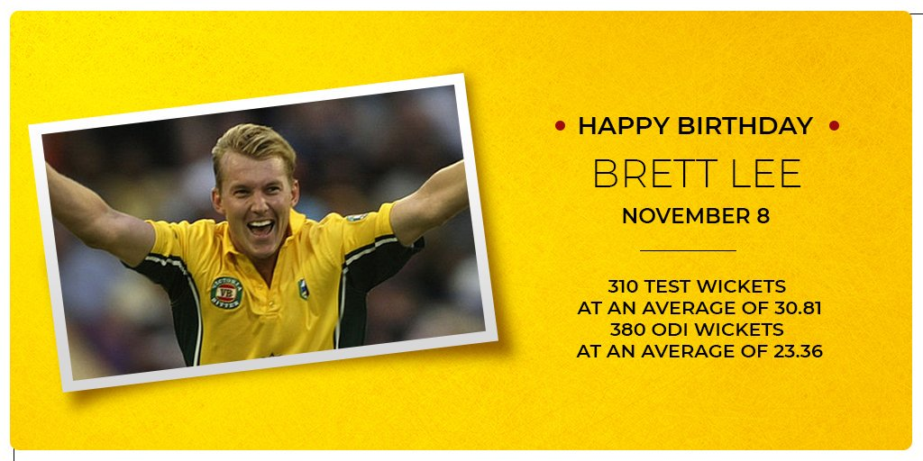 One of the quickest bowlers of all time was born Happy Birthday, Brett Lee!