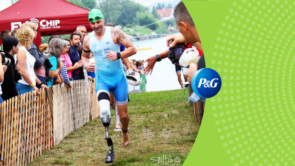 "We know our people are some of the best in the world, but what makes them equally remarkable are their ambitions outside the office. P&Ger Gabor of Hungary and accomplished para-athlete gives new meaning to the words, ""Fight for your dreams."" #PGProud"