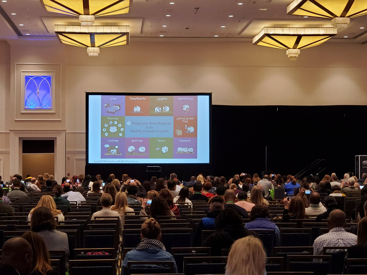 """""""When you're in the grocery store checkout line, driving, or in a deeply committed relationship with another human, take time to express gratitude."""" It's healthy for the brain. #ASCDCEL"""