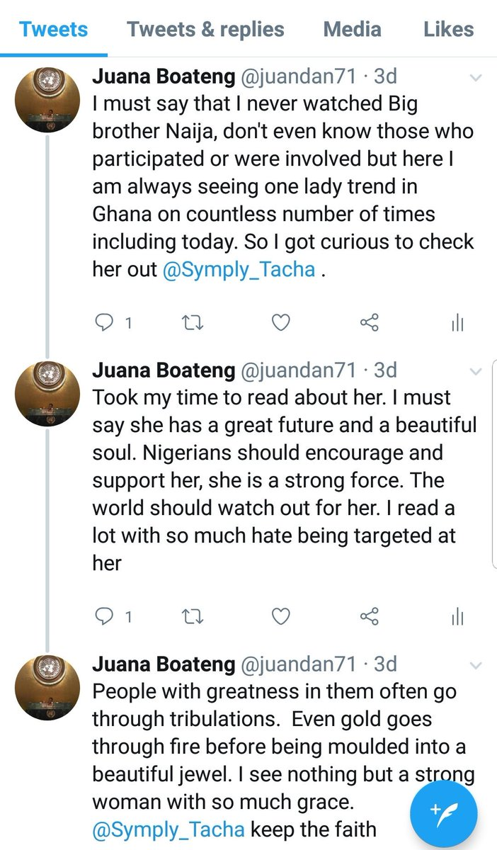 For those wondering what I posted on my TL, this is a screenshot of it. I posted this three days ago #TachaHomecoming <br>http://pic.twitter.com/peNl7iCq5o