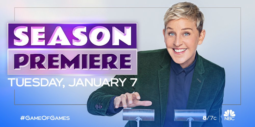 We have an early present for you. Two whole hours of @theellenshow and #GameOfGames January 7 at 8/7c. 🎁🎉