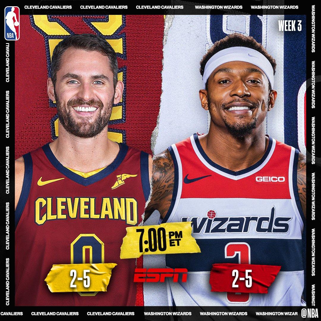 FRIDAY HOOPS! 🏀🚨  📺 7pm/et, @ESPNNBA @cavs / @WashWizards   📺 10:30pm/et, @NBATV @MiamiHEAT / @Lakers