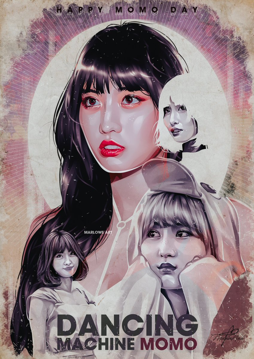 Dancing Machine Portrait of Hirai Momo When Momo was eliminated from Sixteen, she didnt back down. She went back to practice even harder Momo is one the most positive people I know💖🍑 Happy Birthday MOMO! @JYPETWICE #HappyMOMOday #DancingMachineMomo #OurLovelyMomoDay #TWICE