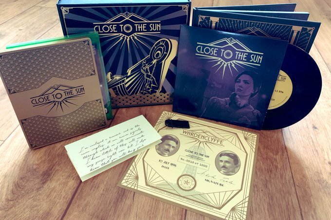 "Psst.Limited stock left of this Collector's Edition!> Copy of #CloseToTheSun> Art Deco FuturePAK metal case> Hardback artbook> Metal pin badge> 7"" vinyl> Ada's letter> Certificate of authenticity> Presentation box> Bonus Epic Games store key!http://www.wiredproductions.com/collections/collectors-editions/products/close-to-the-sun-collectors-edition …"