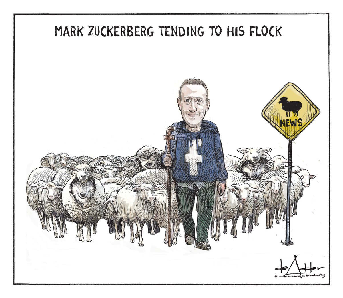 Cartoons I've drawn for @friendscb #facebook #twitter #socialmedia #FakeNews #userdata #Zuckerberg #MarkZuckerberg