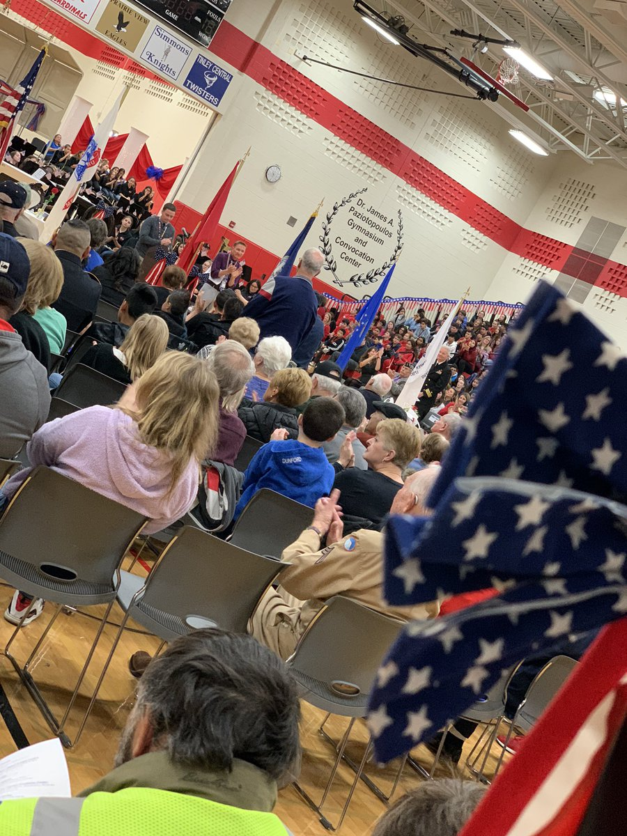 Proud to honor our Veterans at the #OLHMS annual Veterans Day Ceremony. #olhmsvets