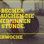 Image for the Tweet beginning: Bitte benutz wiederverwendbare Becher 💚🌍