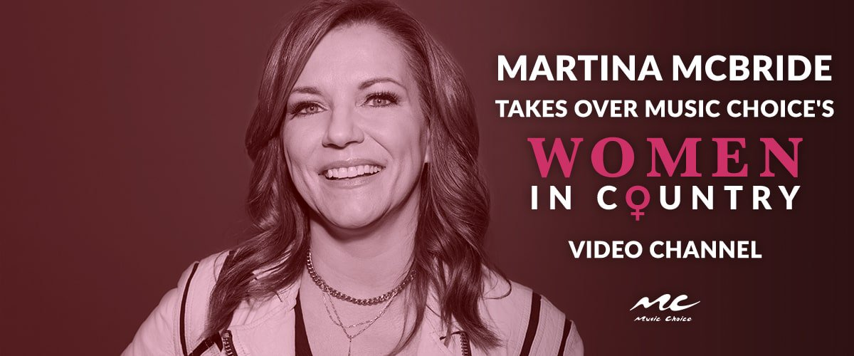 Todays Women in Country video channel takeover with @martinamcbride is stacked with iconic artists like @taylorswift13 @ShaniaTwain and more: musicchoice.app.link/wicvc