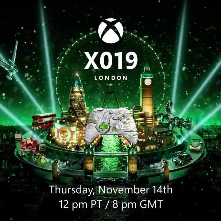 #X019 kicks off with an episode of Inside Xbox you won't want to miss.✅ 12 Xbox Game Studios titles (including new reveals and PC) ✅ New PC and Console game reveals for @XboxGamePass✅ Big Project xCloud newsTune in LIVE @WatchMixer November 14: https://xbx.lv/34Hh4R5