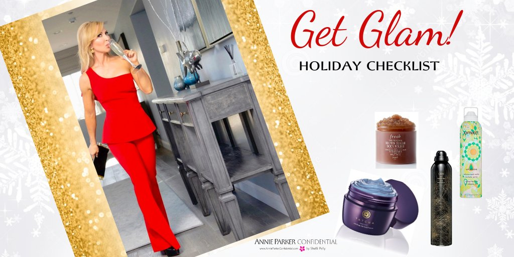 Your Get-Glam Checklist for the Holidays!  Best winter skincare, hair masks and gorgeous sparkly makeup.  Click to get started!    #holidays #christmas #holidaygifts #giftguide #holidaymakeup #shopping #happy #holidaybeauty #bblogger