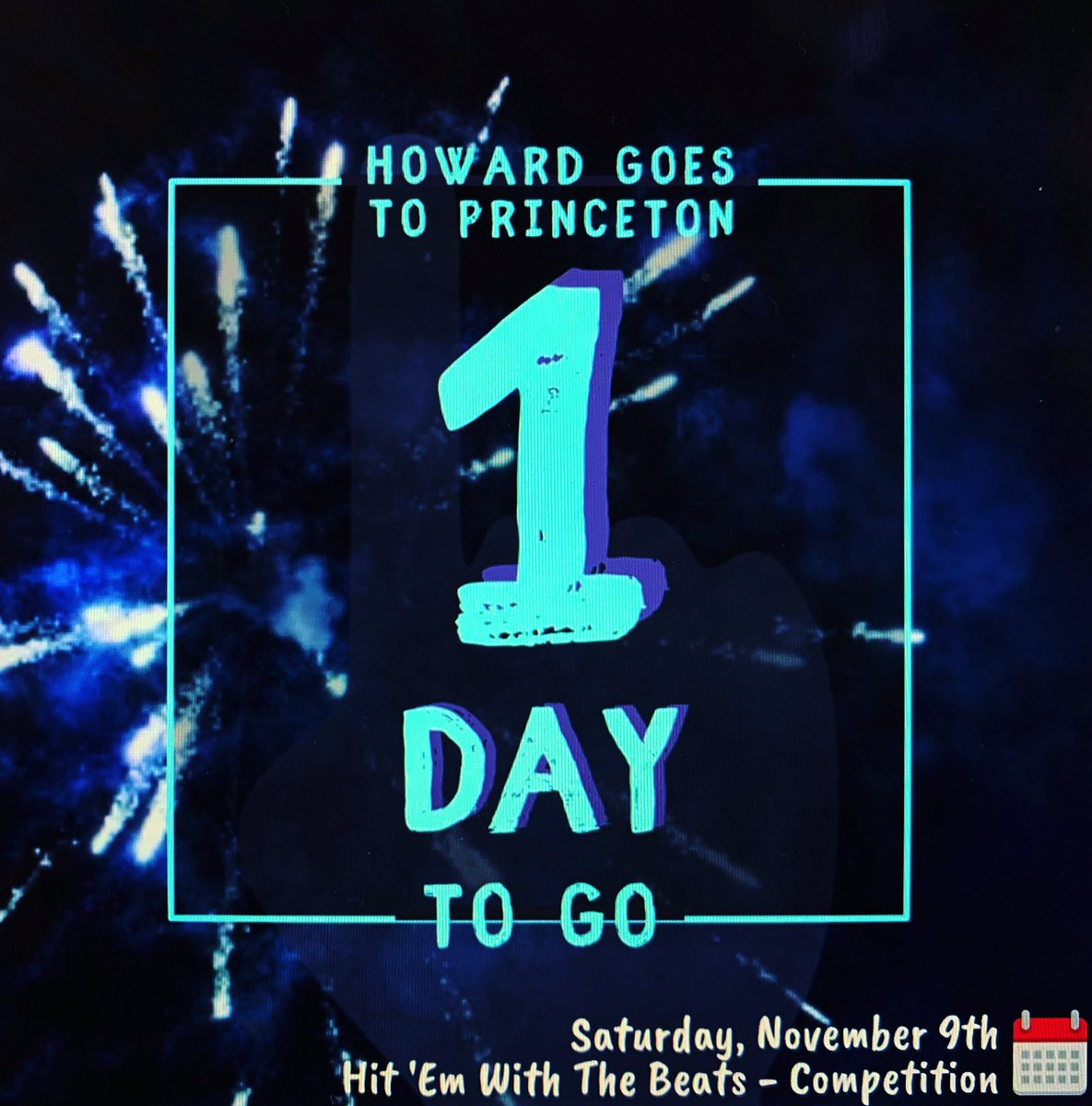 Trying to make us 3, from that 2, still the 1. Tomorrow The Howard University Step Team is Princeton Bound. Let's get it, let's go 😈