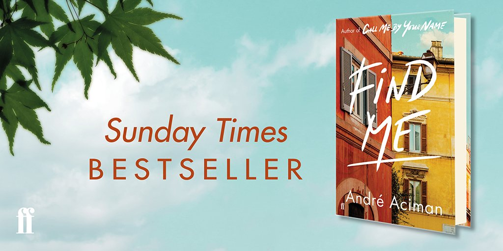 It was an early-November Sunday, not chilly, but not warm... Find Me by @aaciman is a top ten Sunday Times bestseller, out now.