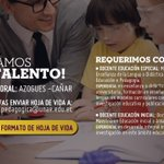 Image for the Tweet beginning: 📍¡Buscamos tu talento! Es indispensable