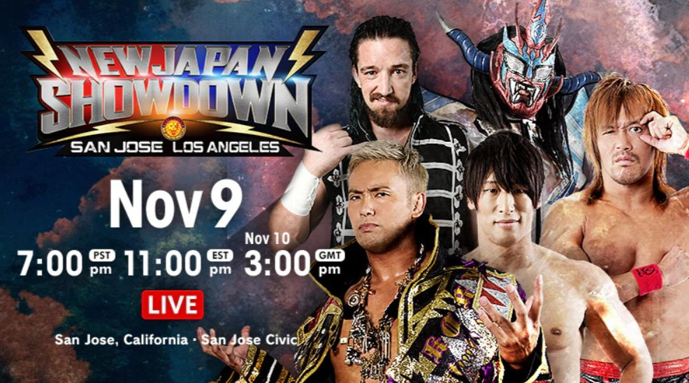 New Japan Showdown In San Jose (11/9) Results: Jushin Liger's Final US Match