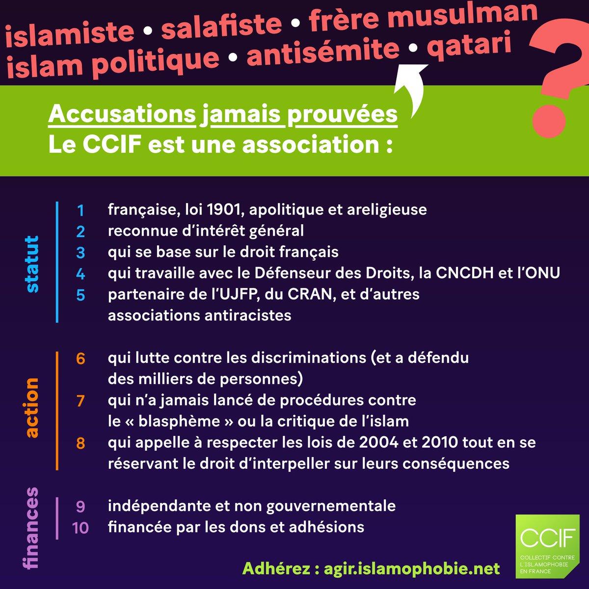 Le #CCIF est-il une organisation islamiste proche des Frères Musulmans ? Énième rappel. #Le10contrelislamophobie