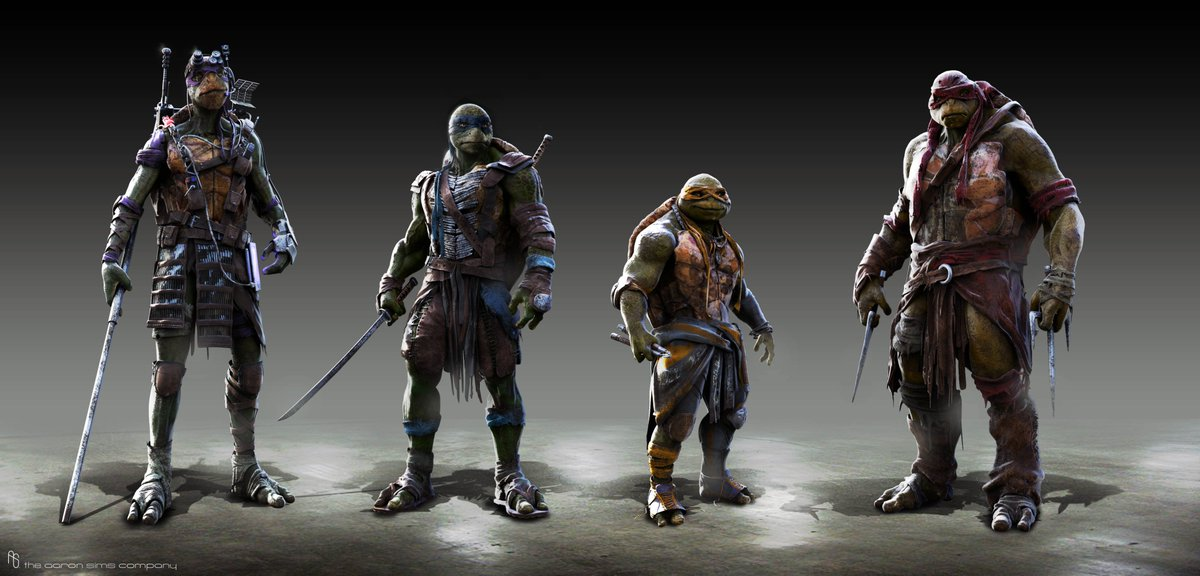 When working on TMNT (2014) I wanted to make #Donatello taller than the rest of them because we all know he's superior in every way.