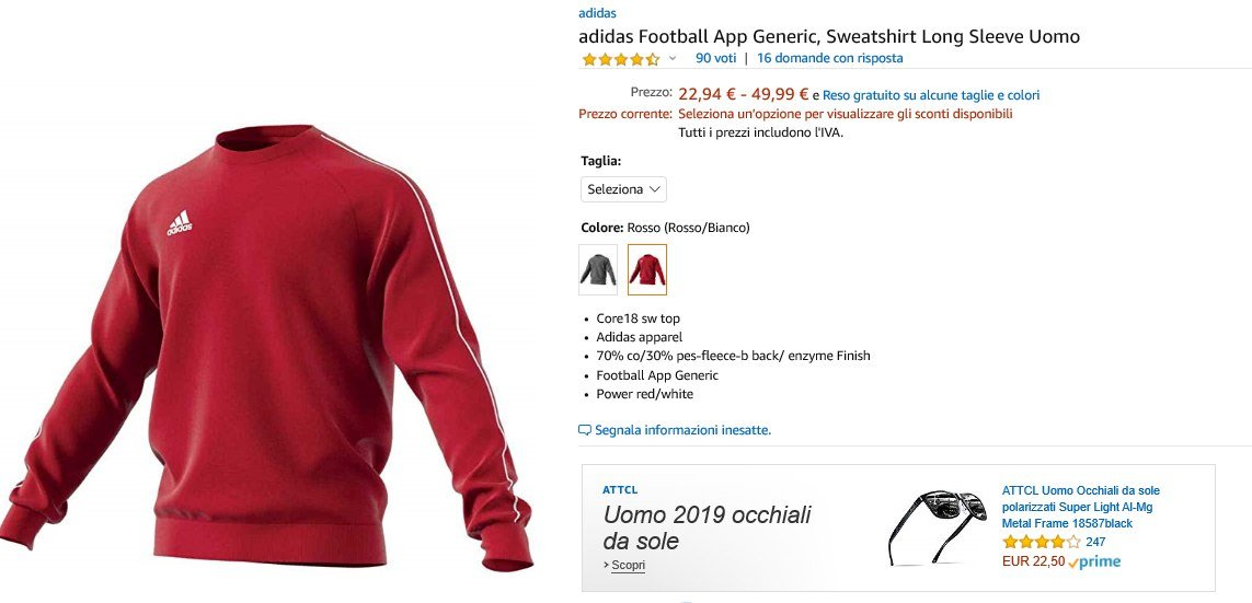 felpa adidas football