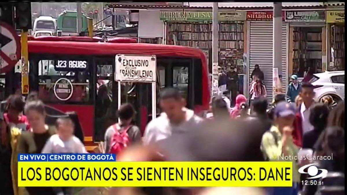 El 84% de los bogotanos se sienten inseguros en la ciudad, según DANE. ¿Qué falla contra la delincuencia?, hablan los jueces http://noticiascaracol.com