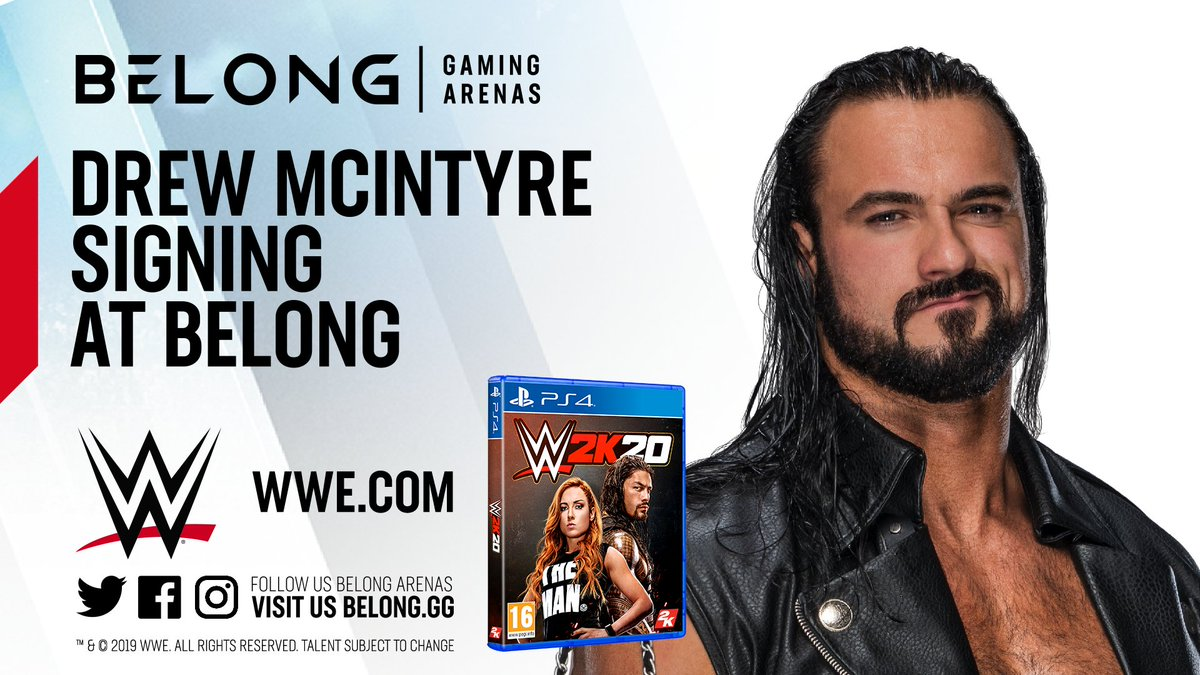I hope you're all excited to be meeting #WWE superstar @DMcIntyreWWE in 3 days!As mentioned previously wristbands will available from Monday!Wristband Information:- Must have wristband for event- Wristbands are FREE- They will be given in the arena from 9am on Monday 11th