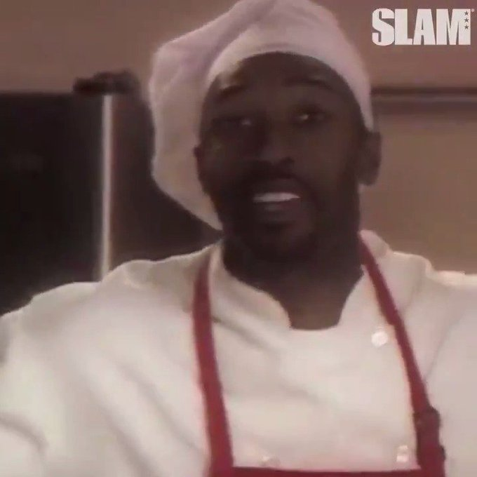 """SLAMonline: \""""If you\re sticking me, you\re getting cooked.\"""" Happy birthday to Gilbert Arenas."""