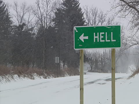 #FoundOnTheHighwayToHell turn left to go to Hell