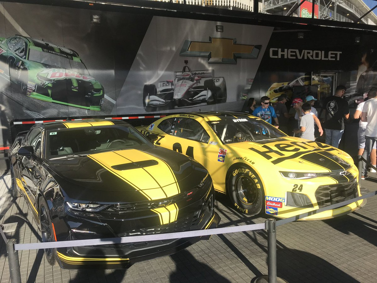 Hey @NASCAR fans! Come check out our custom Hertz - @TeamHendrick Camaro SS & #Hertz24 show car in the @TeamChevy display this weekend at @ISMRaceway. #HertzCamaro   Enter to win our custom Camaro SS:    NO PURCHASE NECESSARY.Subject to full official rules.