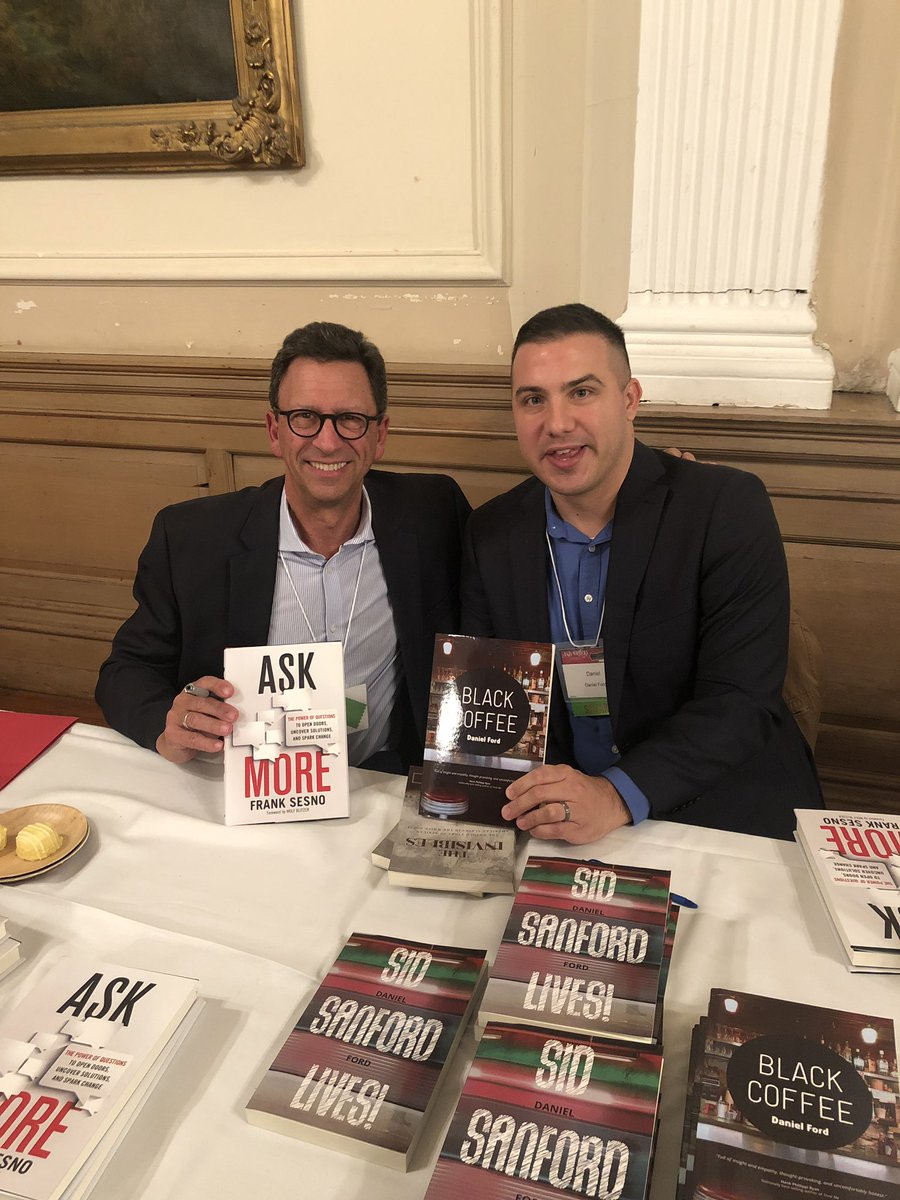 Great meeting @franksesno at #ASJADC2019. Don't be surprised if he makes an appearance on @WritersBone. #writers #writerslife