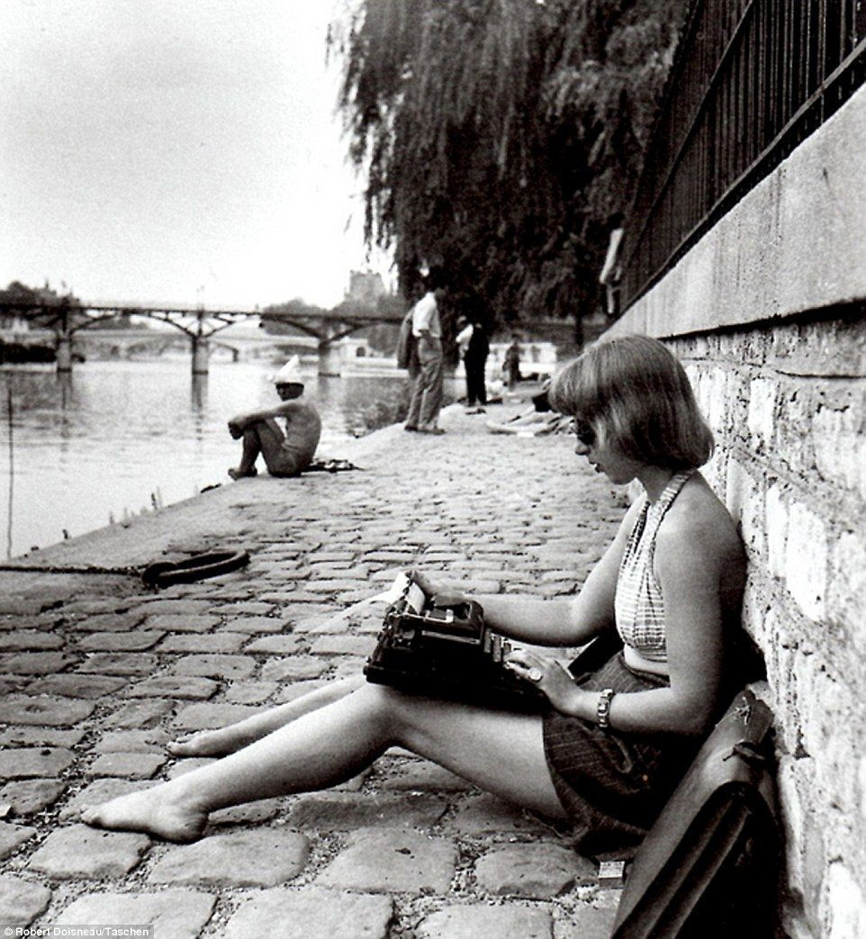 There is nothing to #writing. All you do is sit down at a typewriter and bleed. #Hemingway #writerslife #writersblock #film Robert #DOISNEAU