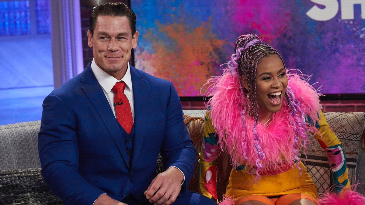 .@JohnCena Says @ShoMadjozi Did The Impossible By Starting The #JohnCena Dance Challenge 😉 WATCH: youtu.be/ElRhKFvQWGA #KellyClarksonShow