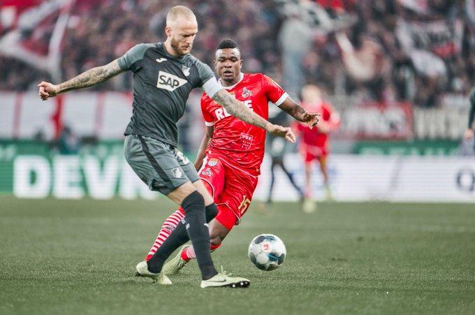 Triunfazo del Hoffenheim que le ganó 2-1 al Colonia y quedó a 2 puntos del Borussia Monchengladbach en la pelea por la Bundesliga (Video) EI4Fh06XsAMJSOh?format=jpg&name=small