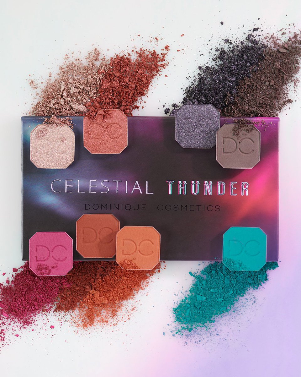 For outta this world eyes we look to @dominiquemakup  Celestial Thunder Eyeshadow Palette, exclusively designed for our Charmers! ⚡️