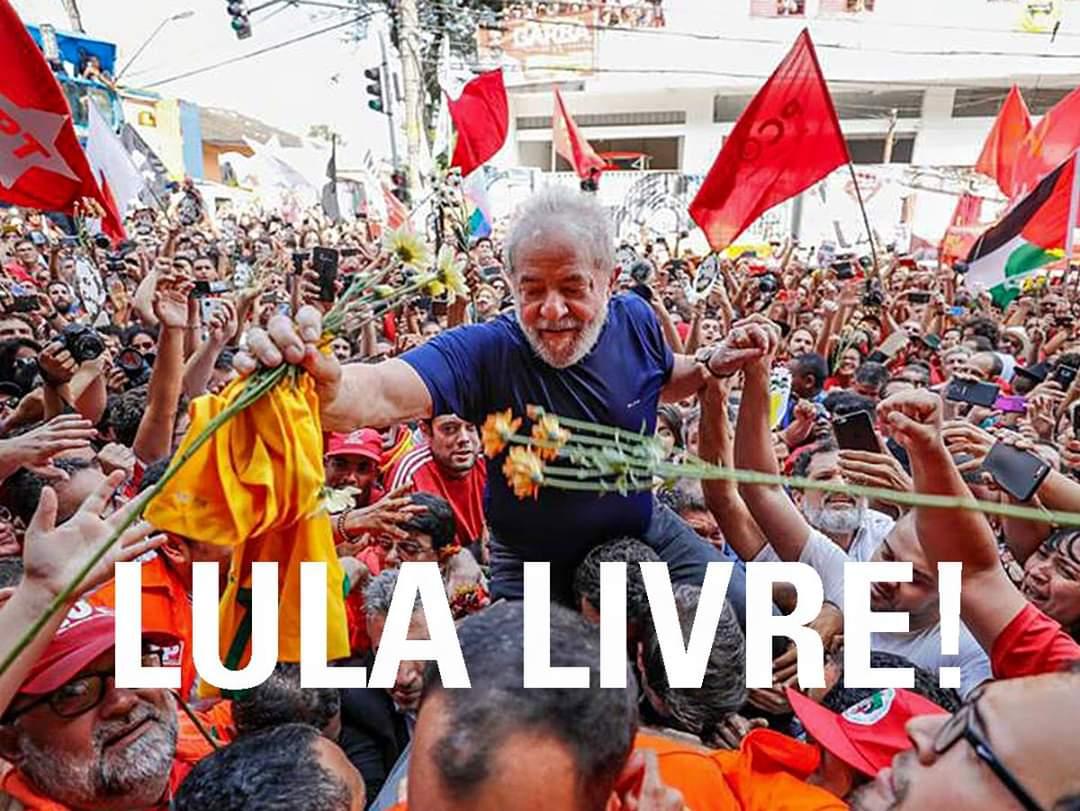 RT @RSperez2019: #LulaLivre #LulaLivreAgora triunfo del pueblo y la solidaridad, Lula es liberado  #PatriaGrande https://t.co/qroE064MJ5