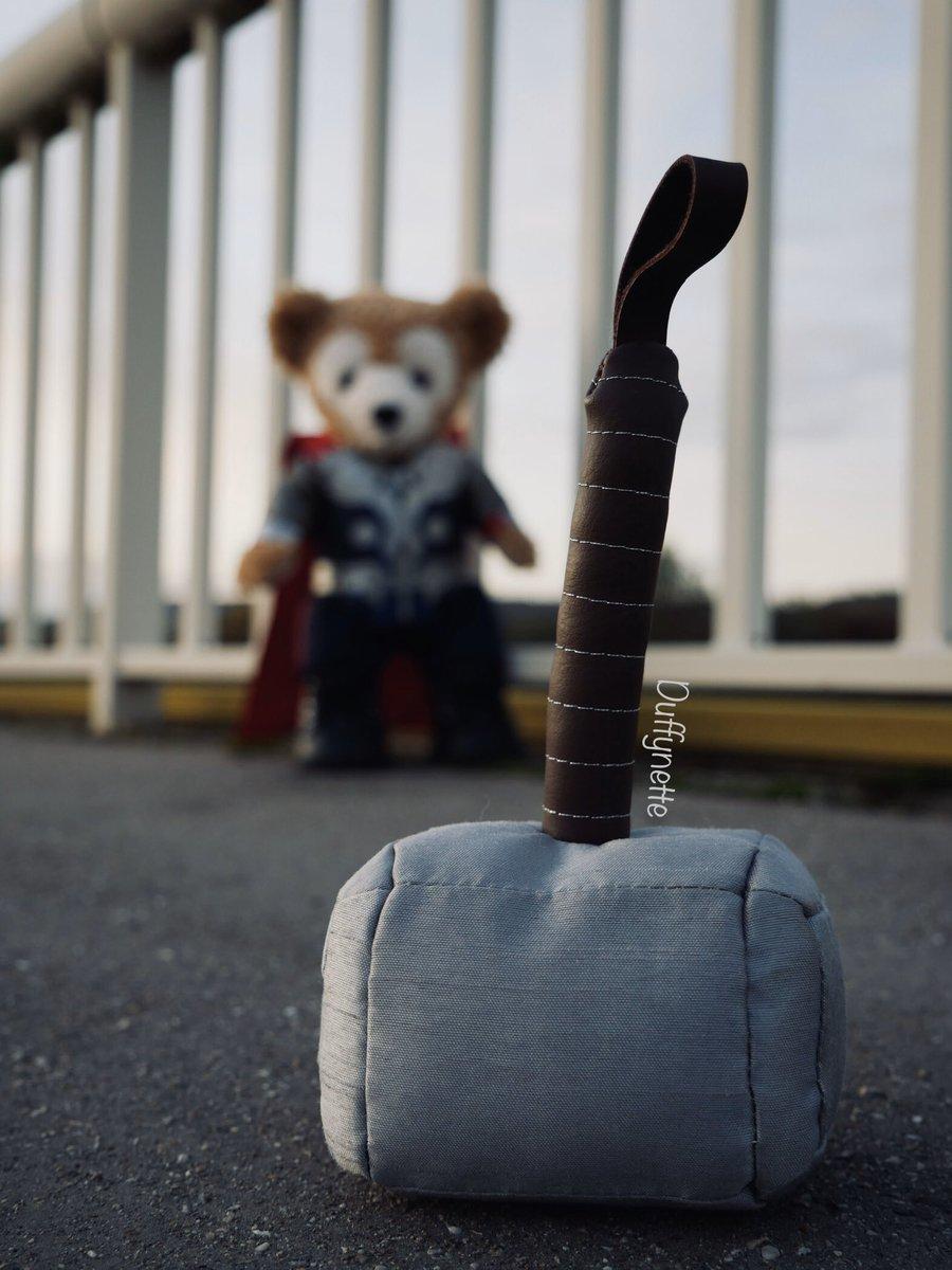 Is Duffy worthy ?   #thor #duffythedisneybear #thorloveandthunder #avengers