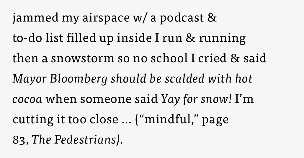 """But every time that snowday angst hits at 5am, I think of the wonderful poem """"mindful"""" by @rachzuck and feel understood."""