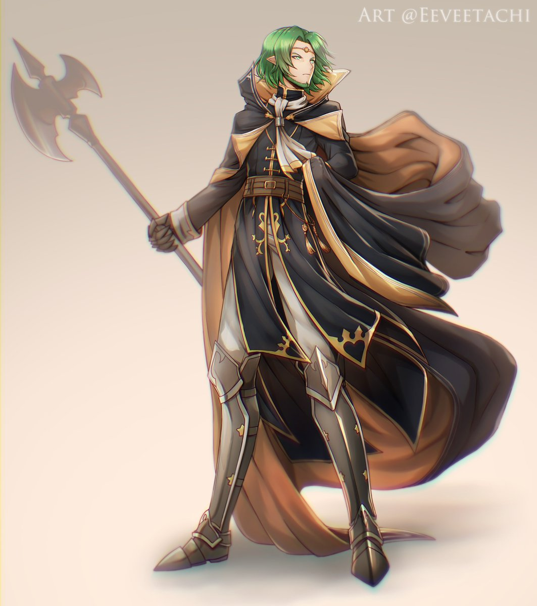 I drew Seteth wearing clothes inspired by Michalis's outfit!  Because his normal clothes are not majestic enough for my liking #FireEmblem #FireEmblem3Houses<br>http://pic.twitter.com/zhQMvfMtod