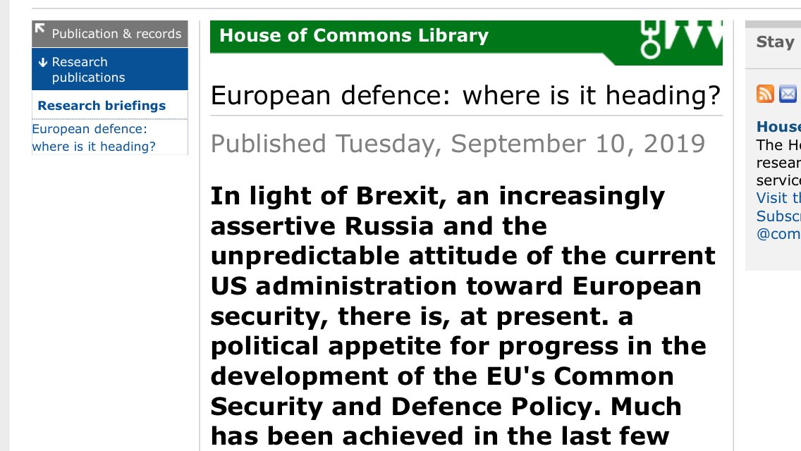 The advice Parliament has received on the EU's new defence powers has been appalling, inadequate and misleading. The very first sentence in this preamble is pure invention. Even the EU admits it had been preparing for years for its recent expansion of military powers.