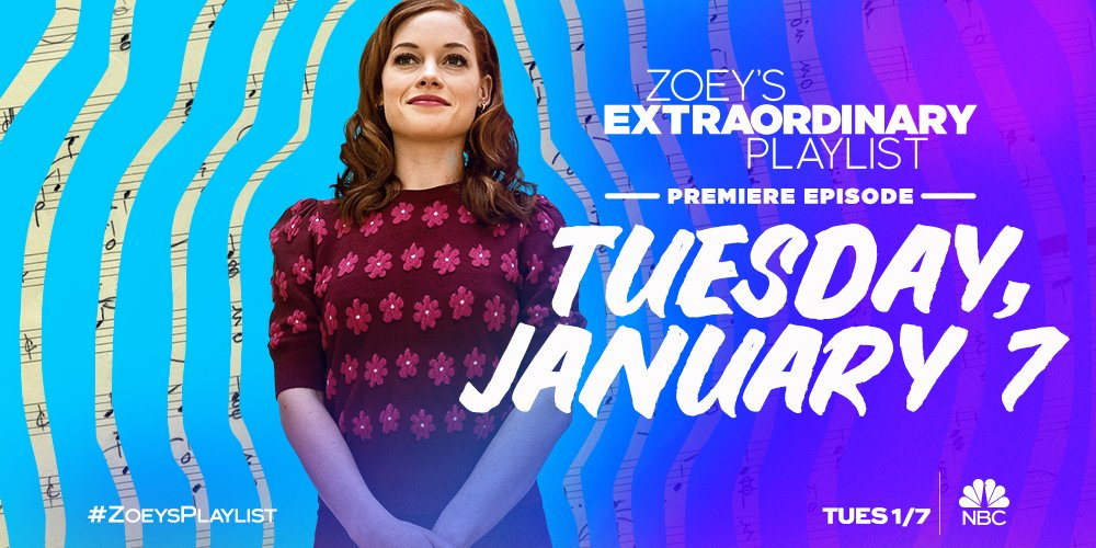 🎶 Shes got the music in her. 🎶 Zoeys Extraordinary Playlist is coming soon to @NBC. #ZoeysPlaylist