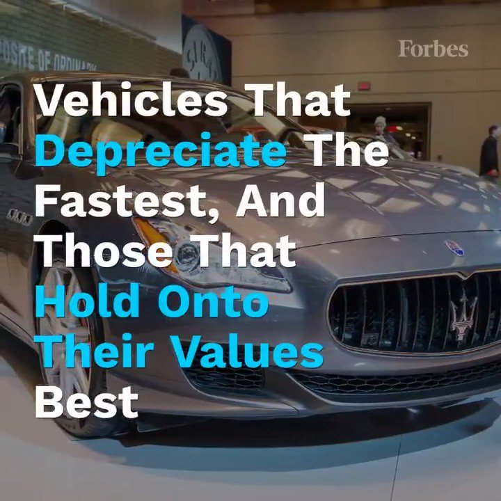 Here are the vehicles that have the highest and lowest 5-year depreciation rates: https://www.forbes.com/sites/jimgorzelany/2019/11/07/burning-money-vehicles-that-depreciate-the-fastest-and-those-that-hold-onto-their-values-best/?utm_source=twitter_video&utm_medium=social&utm_campaign=forbes …