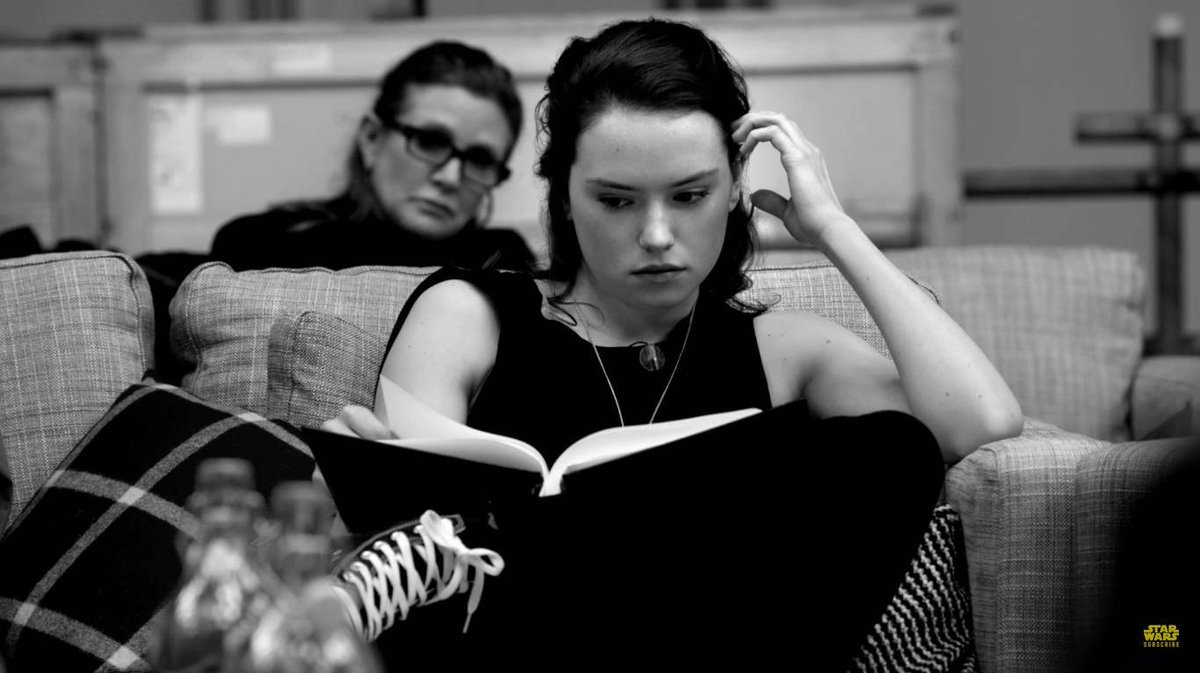 RT @CzytamJestem: #ReadingIsSexy   (Daisy Ridley and Carrie Fisher in the 'Star Wars The Force Awakens') https://t.co/WTENJ90uuo