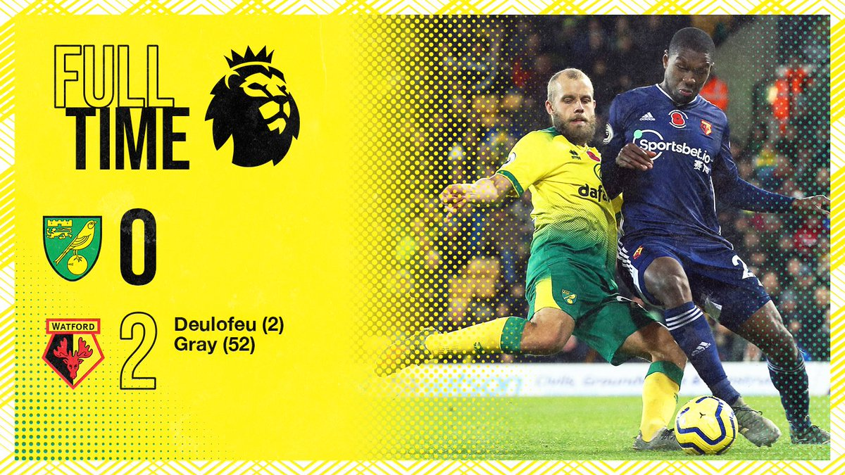 Full-time at Carrow Road ⏱
