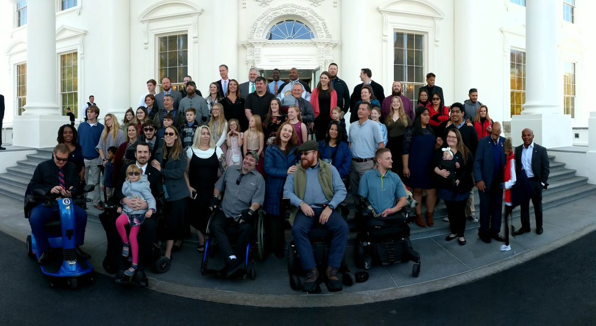 On Wednesday @IndyFund hosted 105 advocates for a private tour of the @WhiteHouse. Out of that group, one #IndyFundVet was randomly chosen to receive a $1,000 travel stipend to attend. Congrats Josh Acker, an #OpRes alumni, who was able to travel from WI to DC with his family!🇺🇸